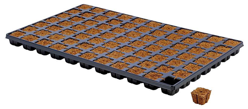 Eazy-Plug tray consists of organic material, a special bonding method, a predetermined pH and EC value and a fixed air-to-water ratio.