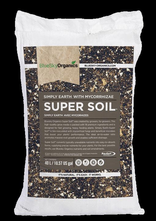 BlueSky Organics Super Soil white bag