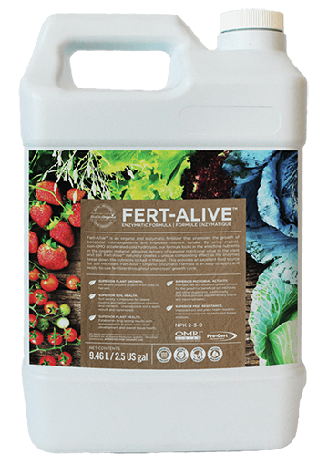 product container of bluesky organics fert alive organic fertilizer that can be used in hydroponic systems