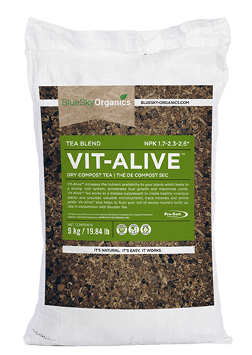 bluesky organics vit alive compost tea that enhances beneficial microbial growth