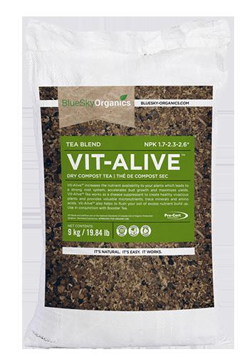 bluesky organics vit alive compost tea that enhances beneficial microbial growth