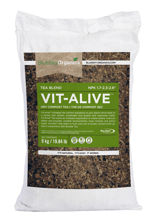 bluesky organics vitalive dry compost plant nutrients