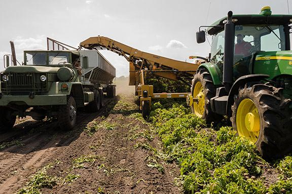 large agriculture machines used in conventional farming