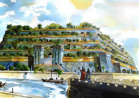 hanging gardens of Babylon as an example of the first hydroponic growing system in documented human history
