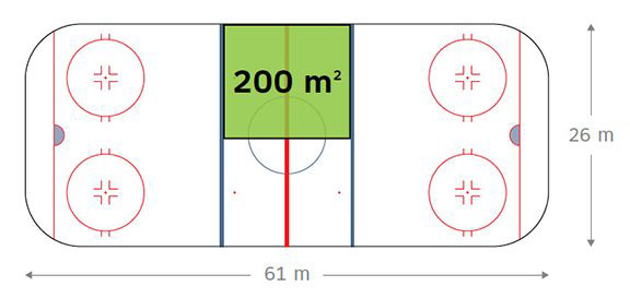 a line drawing of the size of a cannabis cultivation area for micro-licenses