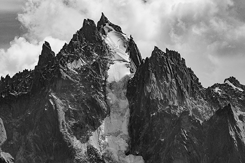 a rugged mountain peak illustrating topography